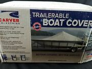 Carver Sun-dura Boat Cover 20and0396 V-hull Runabout W/tower I/o Made In Usa