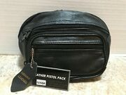 Size Small - Roma Leathers 7070sr Concealed Carry Leather Fanny Pack - Black