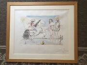 Salvatore Dali Le 53/250 Lithograph Horse With Rider And Nude Hand Signed Wow