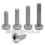 Bulk Qty - M5 Phillips Pan Head Machine Screw Din 7985a 18-8 A2 Stainless Steel