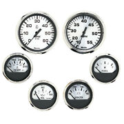Faria 6 Gauge Set For Inboard Engine Speed Tach Volt Fuel Water Temp And Oil