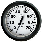 Faria Euro White 4 Tachometer - 7000 Rpm Gass - All Outboards 32905