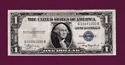 Fr.1611 1 1935 A Silver Certificate Note Fancyy Sn Q 10081000 B Us Currency