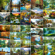 Diy Natural Scenery Paint By Number Kit Oil Painting On Canvas Wall Home Decor