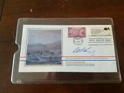 Edward Ted Kennedy Ma Senator Signed Fdc First Day Issue Bicentennial Stamp