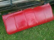 1969 Cadillac Deville Convertible Rare Ostrich Grain Red Leather Lower Rear Seat