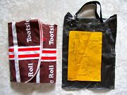 Vintage 1970s Tootsie Roll Inflatable Mattress Tote Beach Seat Cushion Mat Candy