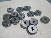 Mate Lot Of 14 Assorted Various Shape/size Turret Punch Dies