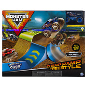 Monster Jam Official Champ Ramp Freestyle Playset And Son-uva Digger Monster Truck