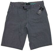 New Marc Ecko Cut And Sew Teal And Pink Confetti Men's Flat Front Shorts Size 32