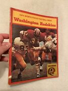 1974 Sports Focus Football Issue Washington Redskins Great Condition L@@k