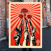 Guns And Roses Shepard Fairey Obey Large Format Poster Signed Limited Edition