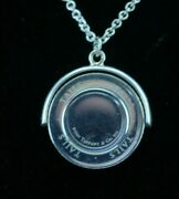 And Co. Sterling Silver Heads Tails Coin Flip Spinner Necklace 16in.