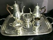 Antique Gorham Engraved Sterling Silver 6 Piece Tea And Coffee Set Exc Cond
