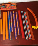 Vintage Hot Wheels 35 Piece Track And 1967 Pop Up Speed Action Set Lot
