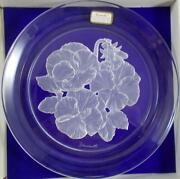 Hoya Flower Of The Month Collectible Plate W/box March Pansy Great Condition