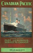 1920 Canadian Pacific Empress Steamers Travel Ads Posters Decor Art