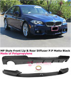 For 11-16 Bmw 5 Series F10 535i W/ M Sport | Mp Style Rear Diffuser And Front Lip