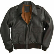 Menand039s Air Force A-2 Leather Flight Bomber Jacket