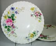 Royal Doulton Arcadia Older Green Backstamp-2 Dinner Plates Great Condition