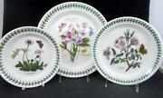 Portmeirion Botanic Garden Dinner, Salad, Bread And Butter Plates Great Condition