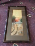 Antique 1922 Katharine Hall Pastel East Texas Country Church Painting