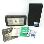 Vtg Art Deco Airguide Princeton Combo Barometer Weather Station Thermometer Usa