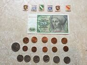 Germany 20 Mark 1980 Bill 17 Coin 2mark 1858 1947 50p 1p 2p 1950d Stamp 1945 Lot