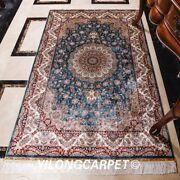 4and039x6and039 Handmade Home Decor Silk Area Rug Medallion Handknotted Area Carpet 0623