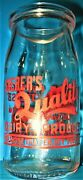 Vintage Shererand039s Quality Dairy Products Cottage Cheese Jar Bottle Extremely Rare