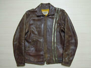 60's Bates Leather Riders Jacket Bates Rare Harley Amf Lewis Leather Men's M
