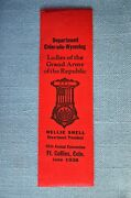 Ribbon Dept. Colorado-wyoming Ladies Of The G.a.r.45th Annual Convention1938