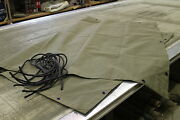 M416 Military 1/4 Ton Trailer Canvas Tarp With Ropes