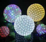 Flower Ball Led Lights Power Saving Christmas Holiday String Lamps Party Decors