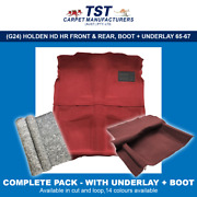 Moulded Car Carpet G24p Holden Hd Hr Front And Rear Boot + Underlay 65-67