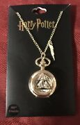 Harry Potter Deathly Hallows Gold Watch Necklace New