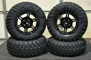 King Quad 700 27 Street Legal 8p Radial Atv Tire 14 Viper Blk Wheel Kit Irs1ca