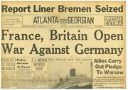 France And Britain At War With Germany Allies' Pledge To Poland September 4 1939