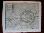 Siege Of Douai War Of Spanish Succession Doway C.1740 Fortified City Plan Map