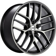 4 Staggered 19x8 / 19x9 Bbs Ccr Gray Machined 5x120 +45/+48 Wheels Rims