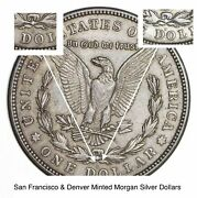 1921 D And S - 2 Coin Mint Mark Set Morgan Silver Dollar 90 Eagle Last Year