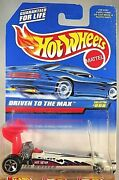 1998 Hot Wheels Collector No 808 Driven To The Max White W/red Wing Wchrome 5sp