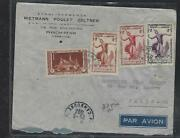 Cambodia Pp3008b 1952 4 Stamp A/m Cover Phnom-penh To France