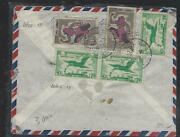 Cambodia Pp3008b 1960  5 Stamp A/m Cover Phnom-penh To Czechoslovakia