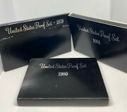 Proof Set Run From 1979-1981 - Includes 3 Susan B Anthony Coins