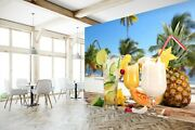 3d Drink Pineapple G223 Business Wallpaper Wall Mural Self-adhesive Commerce