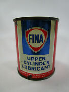 Vintage Fina Oil Can Upper Cylinder Lubricant Gas Sign Advertising