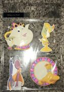 Disney Parks Beauty And The Beast Kitchen Refrigerator Magnet Set Of 4 Magnets