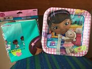 Doc Mcstuffins Birthday Party Set Pack 8 Plates 9 Table Cover Nip New