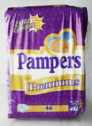Rare Vintage Pampers Premiums 46x Maxi Plus 9-20kg 20-44lbs New Sealed